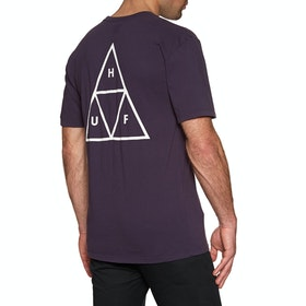 T-Shirt à Manche Courte Huf Essentials Triple Triangle - Purple Velvet
