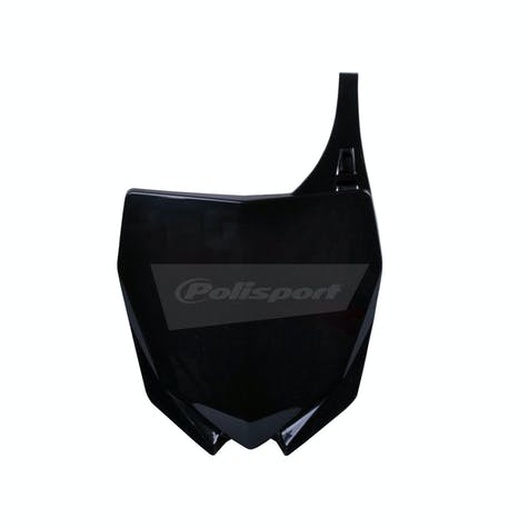 Polisport Plastics Yamaha YZ125 250Black Front Number Plate