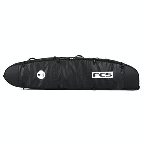 Housse de Surfboard FCS Travel 2 Wheelie Longboard - Black/grey