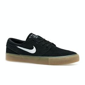 Chaussures Nike SB Zoom Janoski RM - Black White Gum Brown