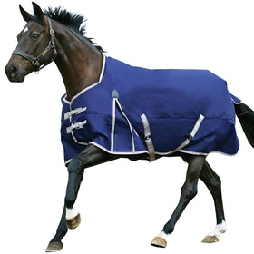 Weatherbeeta ComFiTec Essential Lite Standard Neck Turnout Rug - Navy Silver Red