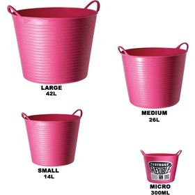 Red Gorilla TubTrug Flexible Tub - Soft Pink