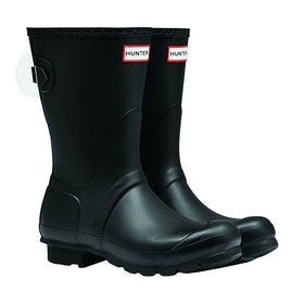 Hunter Original Back Adjustable Short Ladies Wellingtons - Black