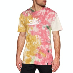 T-Shirt à Manche Courte Huf Further Logo Tie Dye - Rust