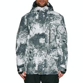 Quiksilver Mission Print Snow Jacket - Castle Rock Splash