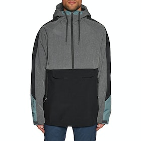 686 Waterproof Anorak Snow Jacket - Grey Melange Colorblock