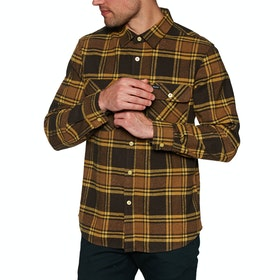 Brixton Bowery Flannel Shirt - Brown/gold