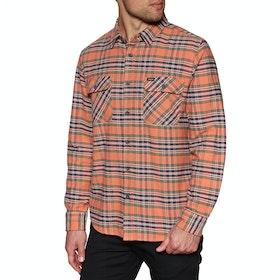 Brixton Bowery Flannel Shirt - Salmon Navy