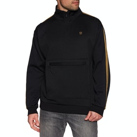 Brixton B-shield III 1/2 Zip Sweater - Black