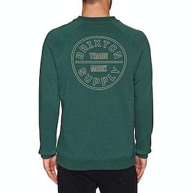 Brixton Oath Crew Fleece Sweater - Emerald