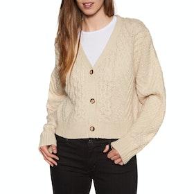 Volcom Bettergetter Sweater Womens Cardigan - Cream
