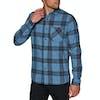 Volcom Caden Plaid Shirt - Blue Rinse