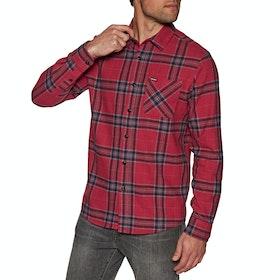Volcom Caden Plaid Shirt - Engine Red