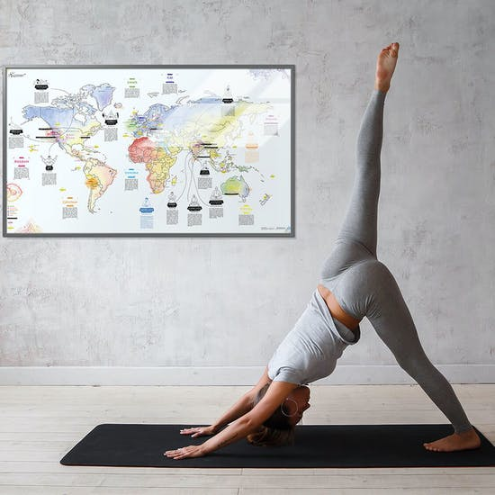 Awesome Maps Yoga Map Surf Accessory available from Surfdome on cricket map, nature map, hindu map, science map, nepal map, psychology map, acupressure map, buddhist cosmology map, feng shui map, vedic period map, chess map, spanish map, history map,