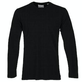 Colorful Standard Classic Organic Long Sleeve T-Shirt - Deep Black