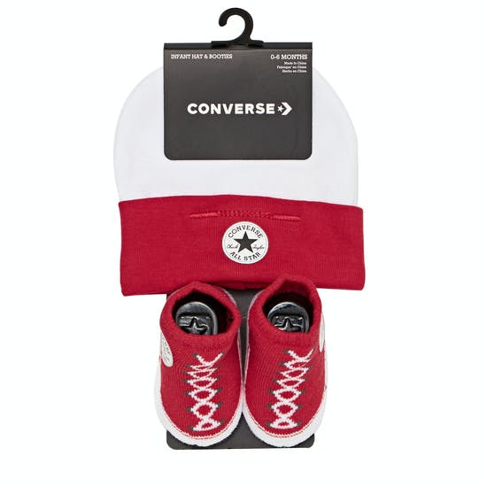 Converse Classic Booties And Hat Gift Pack Baby Shoes