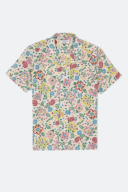 YMC Cotton Dobby Kortærmet skjorte