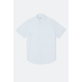 YMC Doc Savage S S Shirt - Ecru Sky