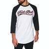Independent Ftr Script Baseball Long Sleeve T-Shirt - Black/white