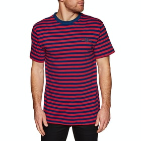 Independent Melon Custom Short Sleeve T-Shirt - Cardinal Red/navy