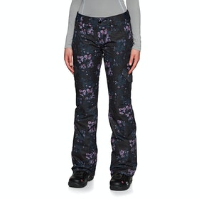 Volcom Bridger Ins Snow Pant - Black Floral Print