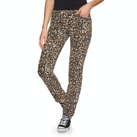 Volcom Super Stoned Skinny Womens Jeans - Animal Leopard Print