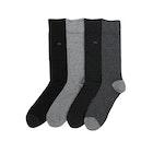 Calvin Klein 4 Pack Freddie Heel Toe Men's Socks