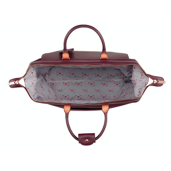 Ted Baker Albany Bow Print Lined Small Clipper Holdall Women's Duffle Bag