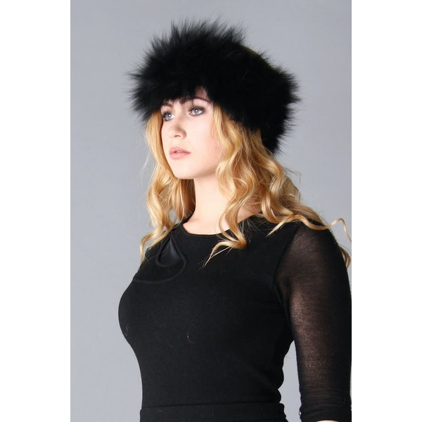 Jayley Fox Fur Headband Women's Hat