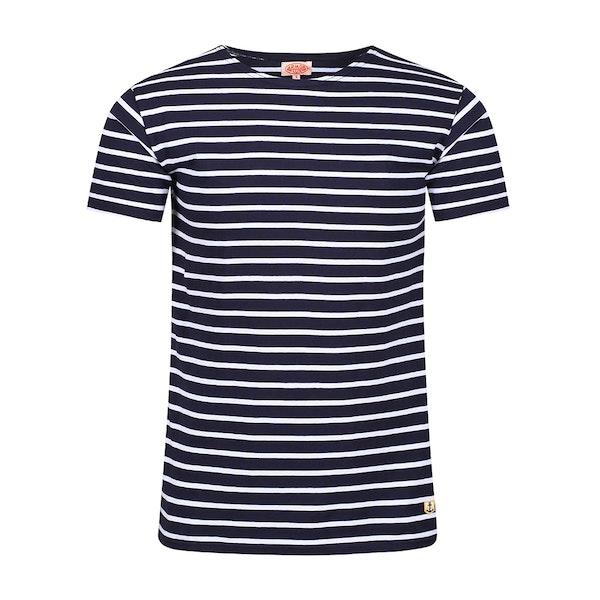 Armor Lux Breton Striped Kvinner Kortermet t-skjorte