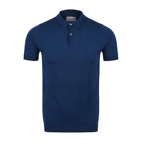 John Smedley Rhodes SS Herren Polo-Shirt - Indigo