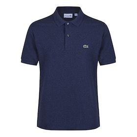 Lacoste Short Sleeve Herren Polo-Shirt - Dark Indigo Blue Marl
