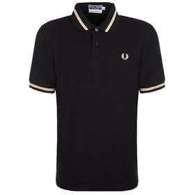 Fred Perry Re Issues Single Tipped Polo Shirt - Black