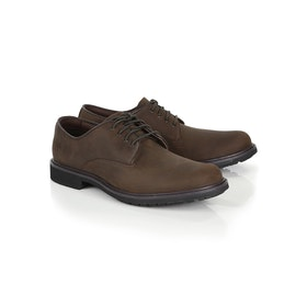 Timberland Stormbuck Plain Toe Oxford Dress Shoes - Burnished Dark Brown Oiled