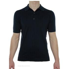 John Smedley Classic Adrian Sea Island Cotton Herren Polo-Shirt - Navy