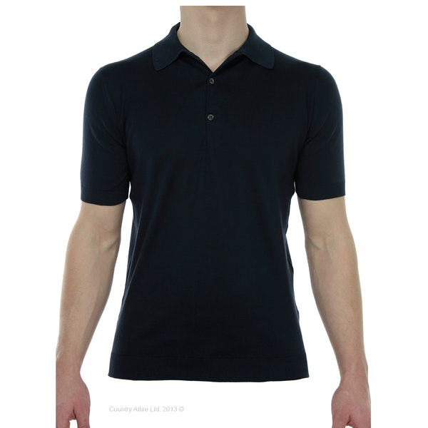 John Smedley Classic Adrian Sea Island Cotton Men's Polo Shirt