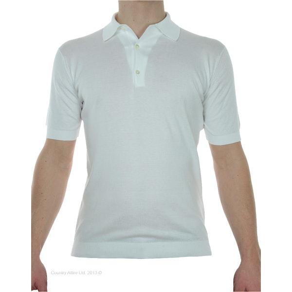 John Smedley Classic Adrian Sea Island Cotton Shirt SS Мужчины Рубашка поло