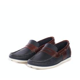 Barbour Keel Boat Men's Dress Shoes - Navy Brown