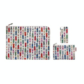 Cath Kidston Paint Tubes Technology Bundle Kid's Laptop Case - Stone