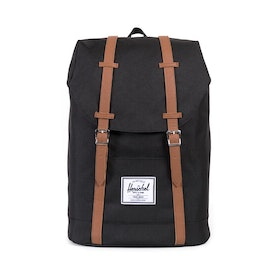 Herschel Retreat Backpack - Black tan Synthetic Leather