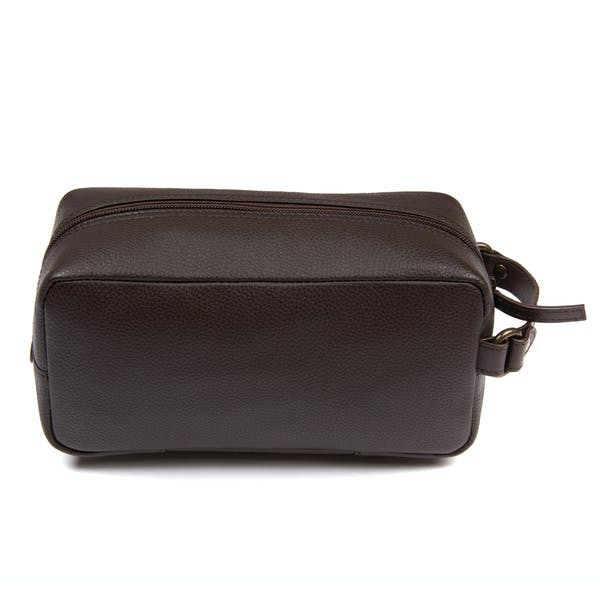 Barbour Compact Leather Men's Wash Bag