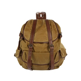 Grenson Large Canvas Backpack - Khaki