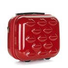 Lulu Guinness Lips Hardside Vanity Case Womens バニティケース