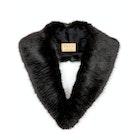 Troy London Faux Fur Lapel Collar Women's Scarf