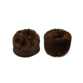 Fur Cuffs Donna Troy London Faux - Chocolate