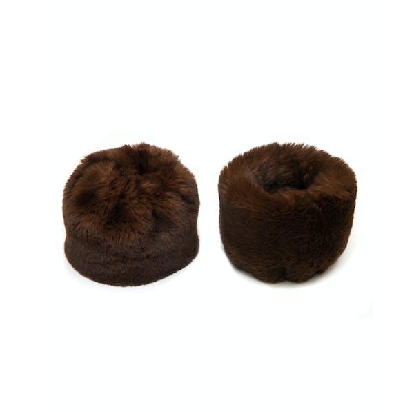 Troy London Faux Women's Fur Cuffs