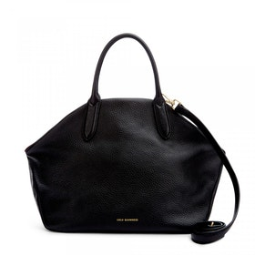 Borsa a Mano Donna Lulu Guinness Peekaboo Lip Grainy Leather Large Valentina - Black