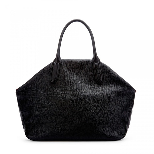 Lulu Guinness Peekaboo Lip Grainy Leather Large Valentina Damski Torebka