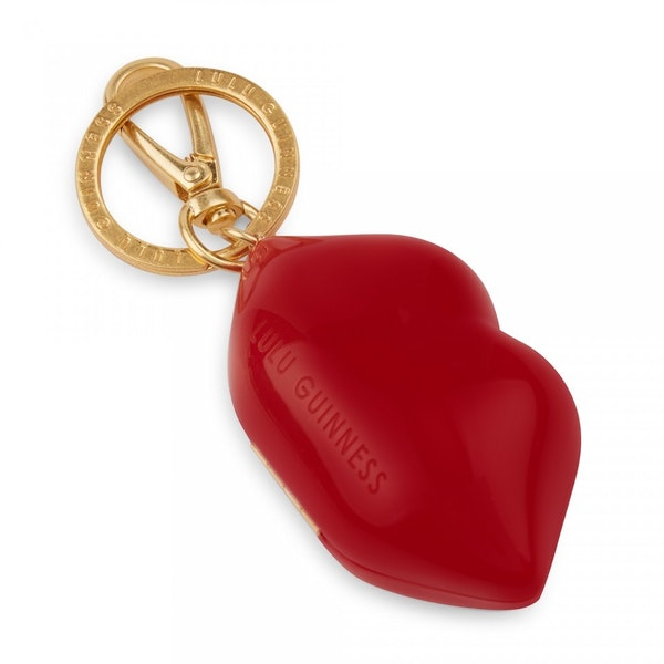 Lulu Guinness Mini Perspex Lips Charm Womens キーホルダー