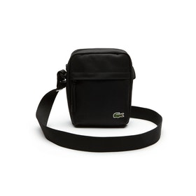 Lacoste Neocroc Canvas Vertical Cross Body Herren Messenger-Tasche - Black